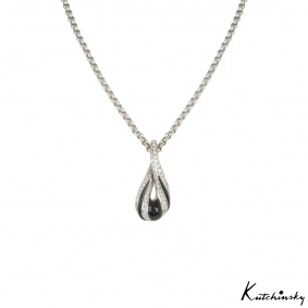Kutchinsky White Gold Diamond & Onyx Pendant
